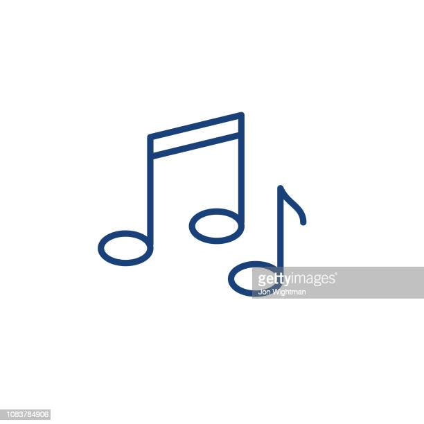 music smart home thin line icon - musical note stock illustrations