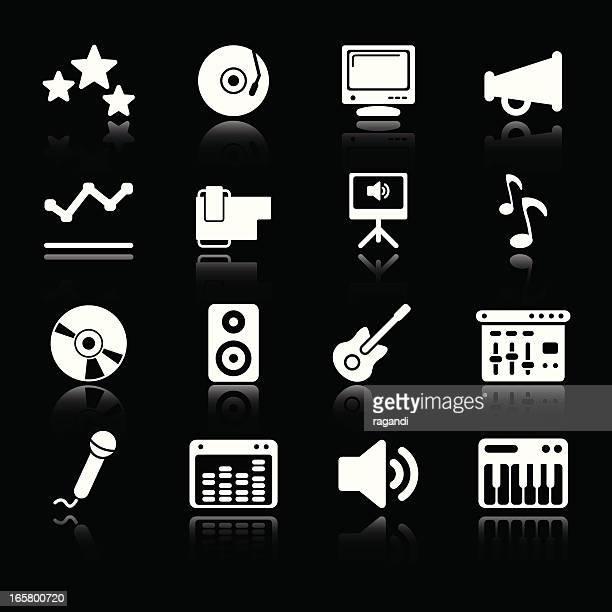 music & sound equipment | simple white - volume knob stock illustrations, clip art, cartoons, & icons