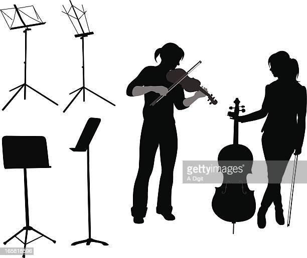 illustrations, cliparts, dessins animés et icônes de musicstanding - pupitre à musique