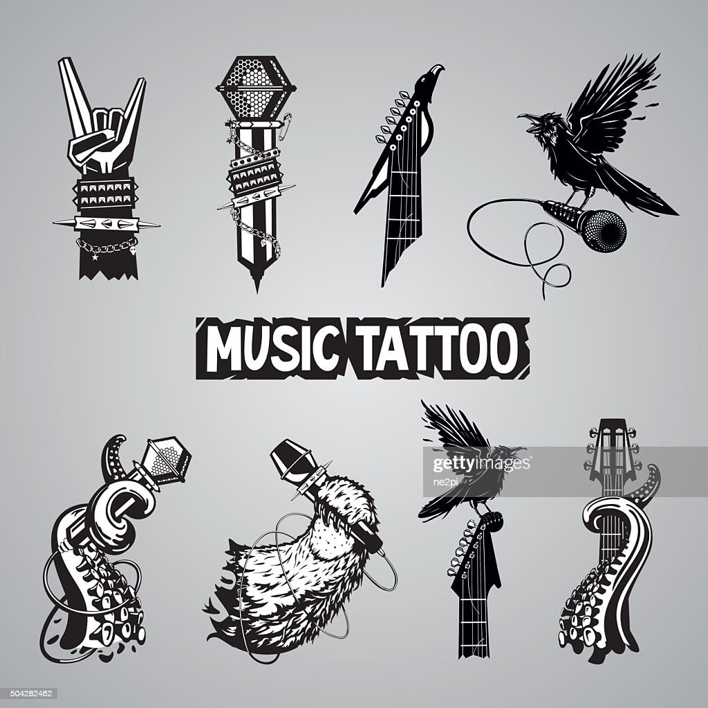 Music tattoo collection