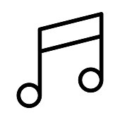 Music Thin Line Vector Icons