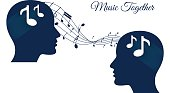 music together, sharing music, music brains, music lover