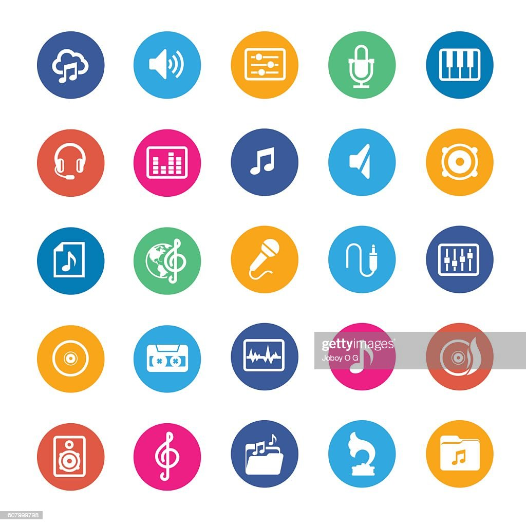 Music vector icons : stock illustration