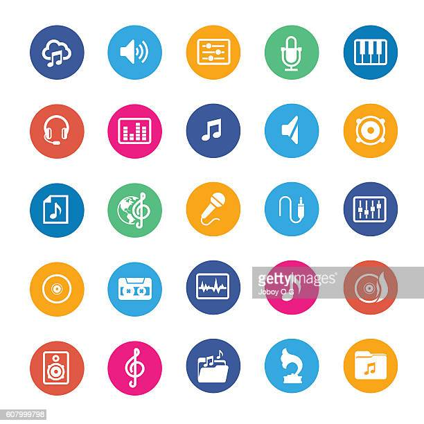 Music vector icons