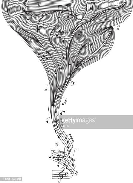 illustrazioni stock, clip art, cartoni animati e icone di tendenza di music - chiave di violino