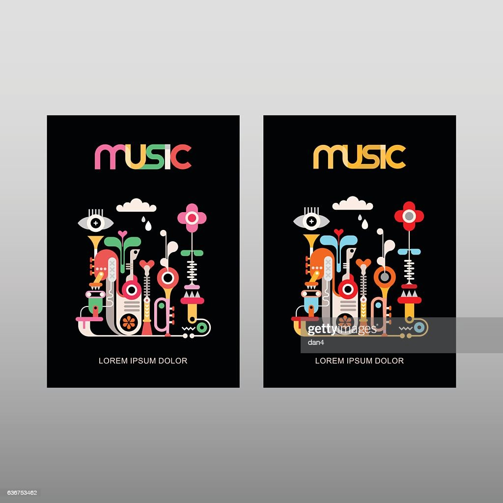 Music vector poster template