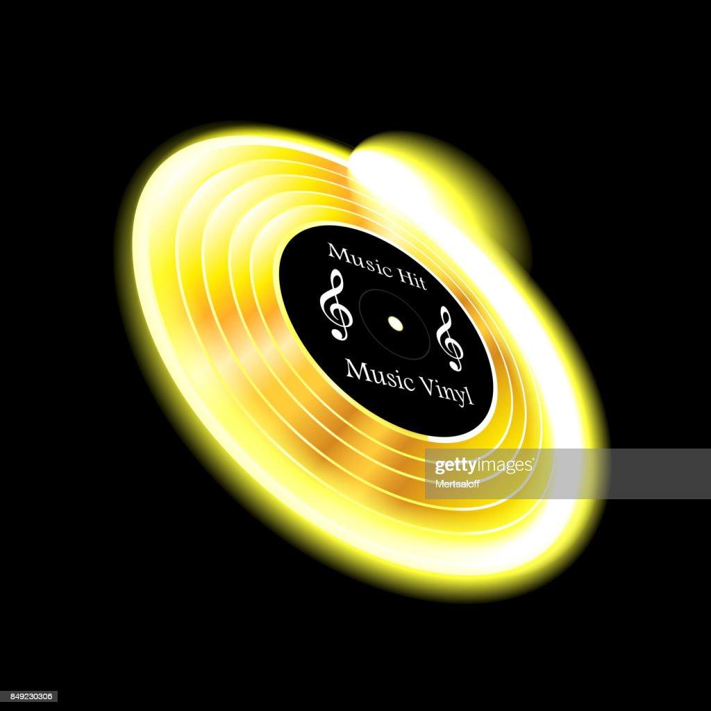 Music, vinyl on white background isolated object