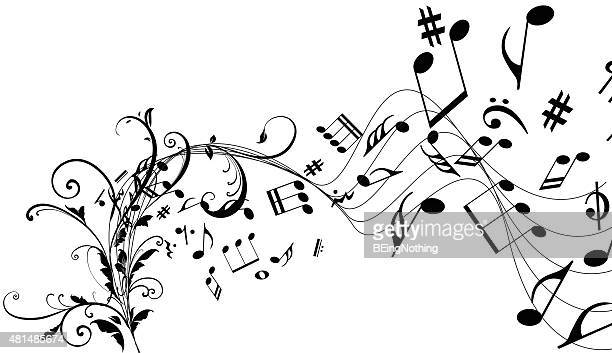 musical abstract background - sheet music stock illustrations, clip art, cartoons, & icons