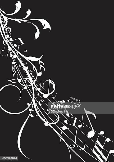 musical abstract background - jazz stock illustrations, clip art, cartoons, & icons