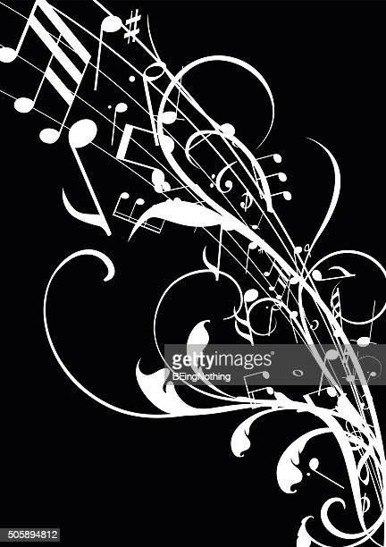 illustrations, cliparts, dessins animés et icônes de abstrait fond musical - jazz