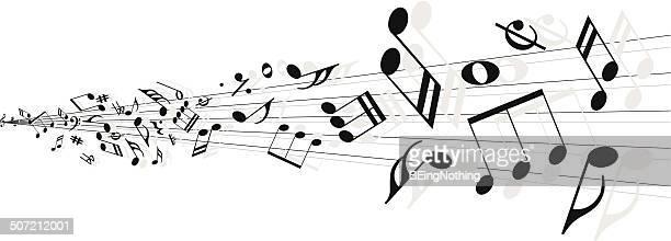 illustrazioni stock, clip art, cartoni animati e icone di tendenza di sfondo astratto musicale - chiave di violino