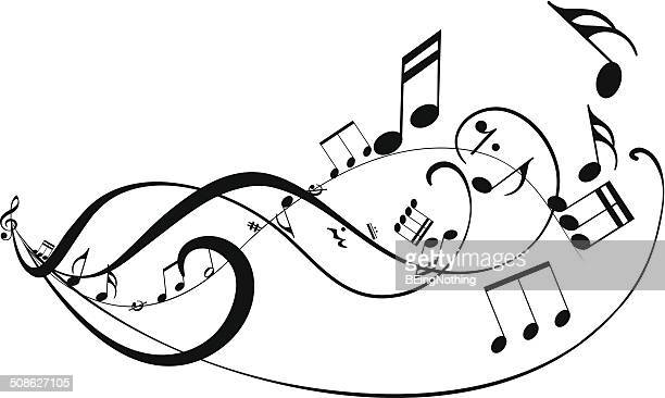 musical abstract background - classical stock illustrations