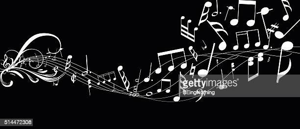 musical abstract background - treble clef stock illustrations, clip art, cartoons, & icons