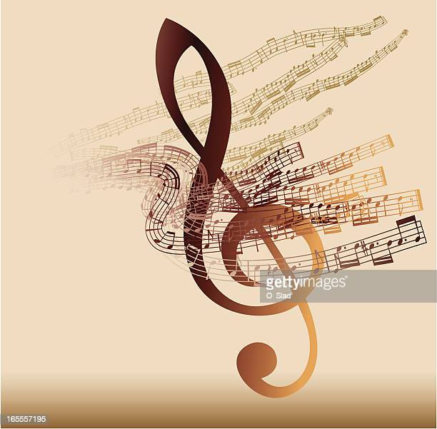 musical abstraction - classical stock illustrations