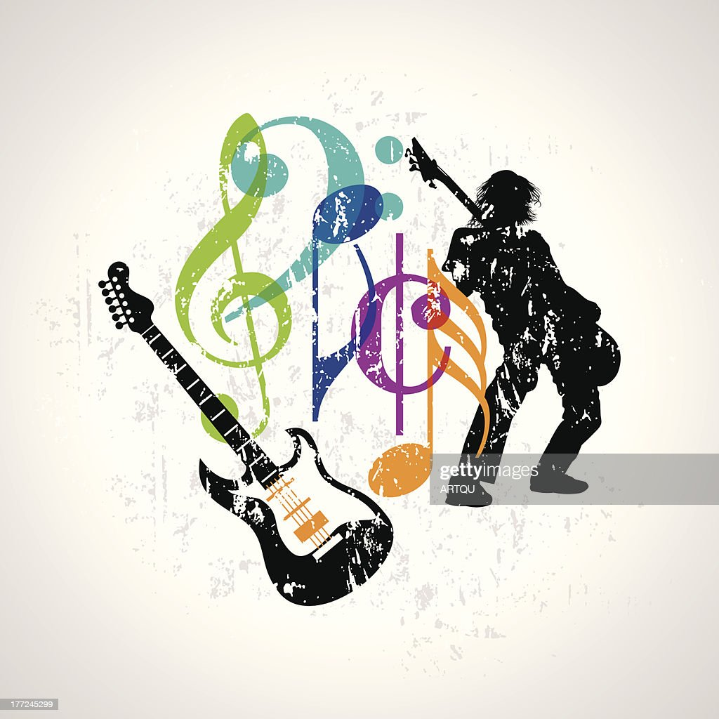 Musical background featuring a guitar