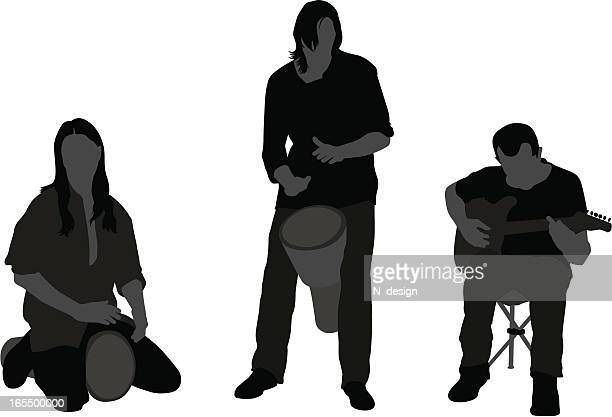 musical band - snare drum stock illustrations, clip art, cartoons, & icons