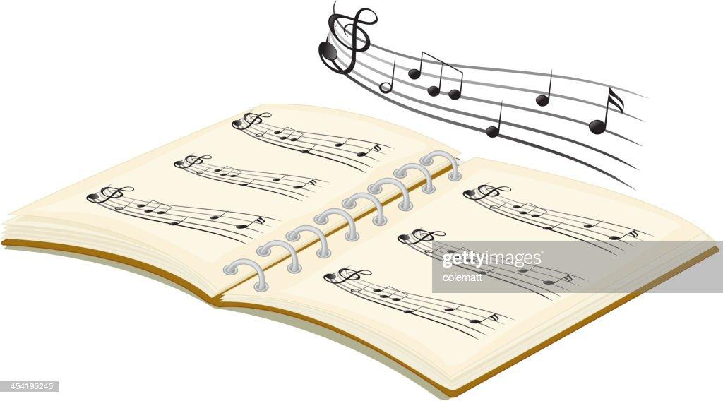Reserve con notas musicales : Arte vectorial
