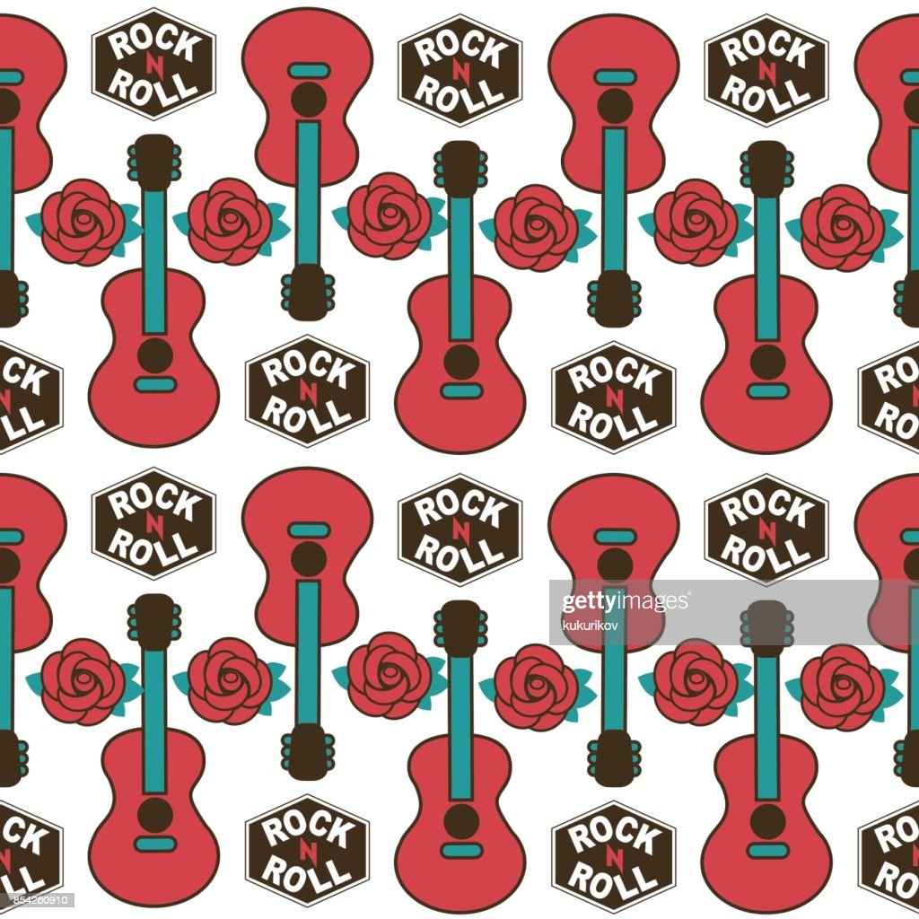 musical british vector seamless  pattern