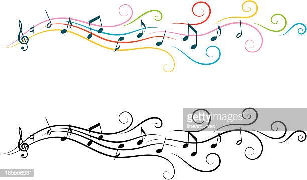musical design elements - musical note stock illustrations