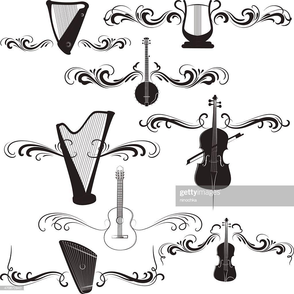 Musical design : stock illustration