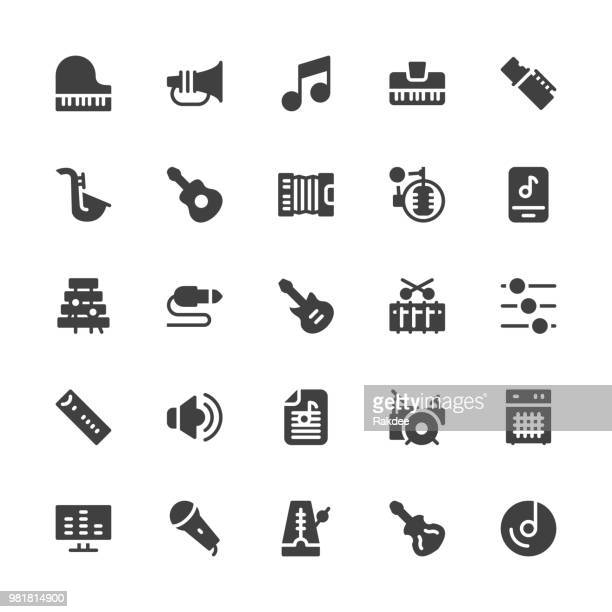 Musical Equipment Icons - Gray Series