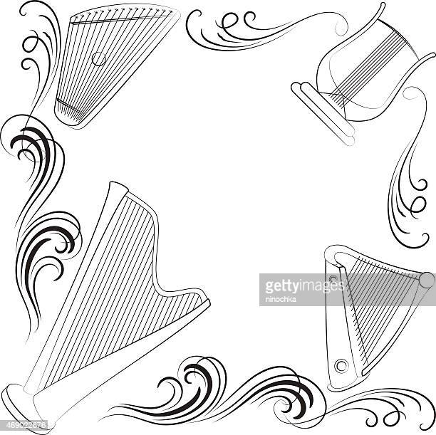 musical frame - music style stock illustrations, clip art, cartoons, & icons