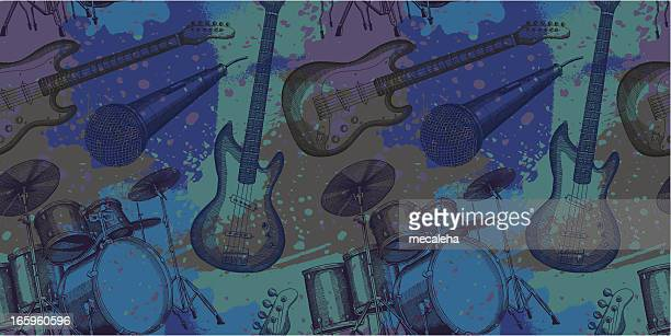 musical grunge design - bass instrument stock illustrations, clip art, cartoons, & icons