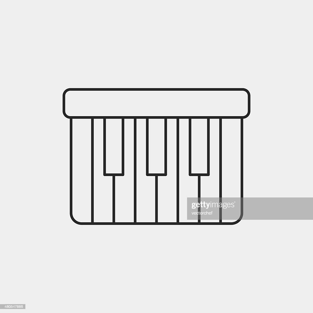 Icono de instrumento musical : Arte vectorial