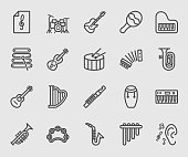 Musical Instrument line icon