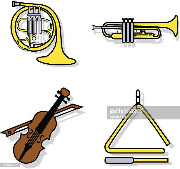 musical instruments icons - music style stock illustrations, clip art, cartoons, & icons