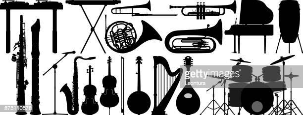 musical instruments - musical instrument stock illustrations, clip art, cartoons, & icons