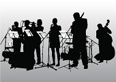 Musical jazz band