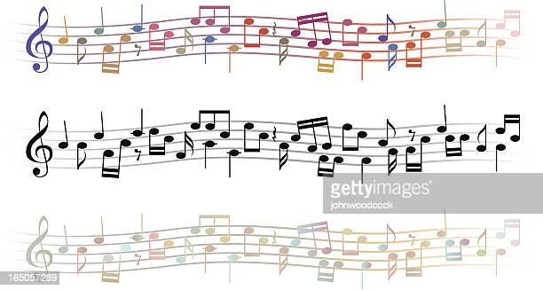 musical lines - sheet music stock illustrations, clip art, cartoons, & icons