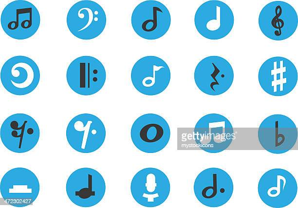 musical note icons - bass clef stock illustrations, clip art, cartoons, & icons