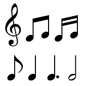 Musical note, sign material set