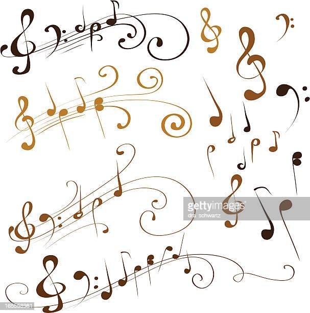 musical note - treble clef stock illustrations, clip art, cartoons, & icons