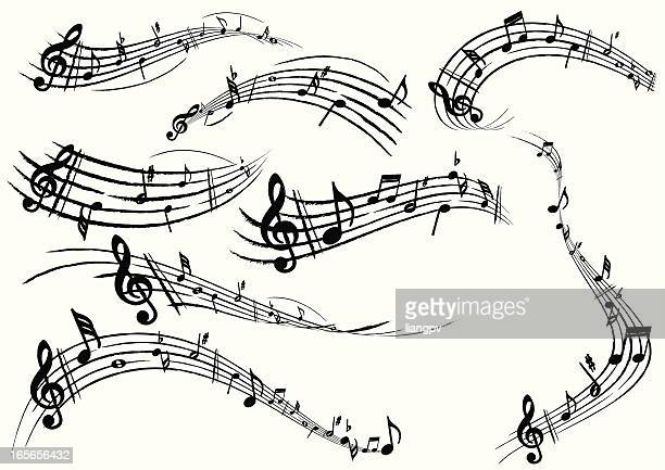 musical note - sheet music stock illustrations, clip art, cartoons, & icons