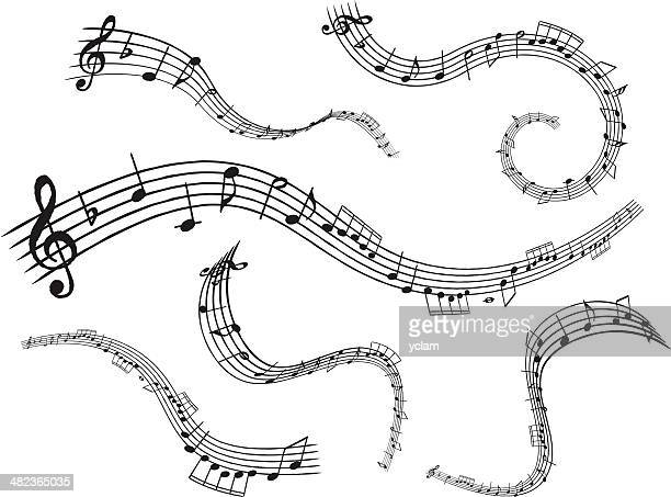 note - treble clef stock-grafiken, -clipart, -cartoons und -symbole