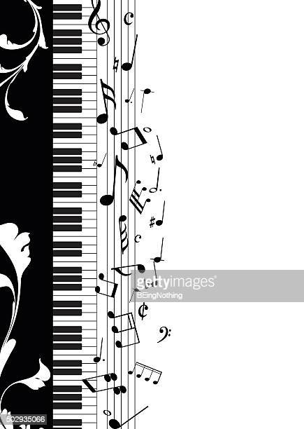 musical note - piano stock illustrations, clip art, cartoons, & icons