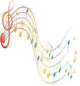 Musical notes and the G-clef