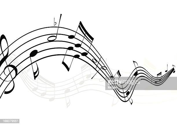 musical notes - sheet music stock illustrations, clip art, cartoons, & icons