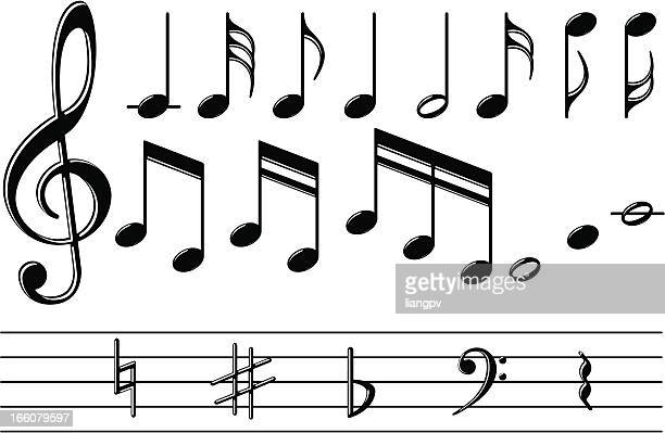 musical notizen - treble clef stock-grafiken, -clipart, -cartoons und -symbole