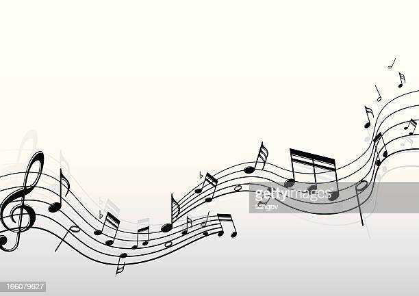 musical notes - musical note stock illustrations