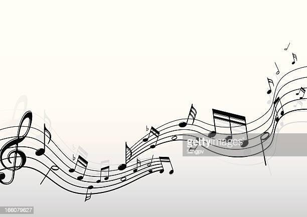 ilustrações, clipart, desenhos animados e ícones de notas musicais - nota musical