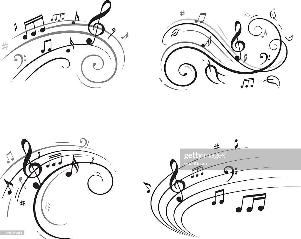 Notas musicales : Ilustración de stock