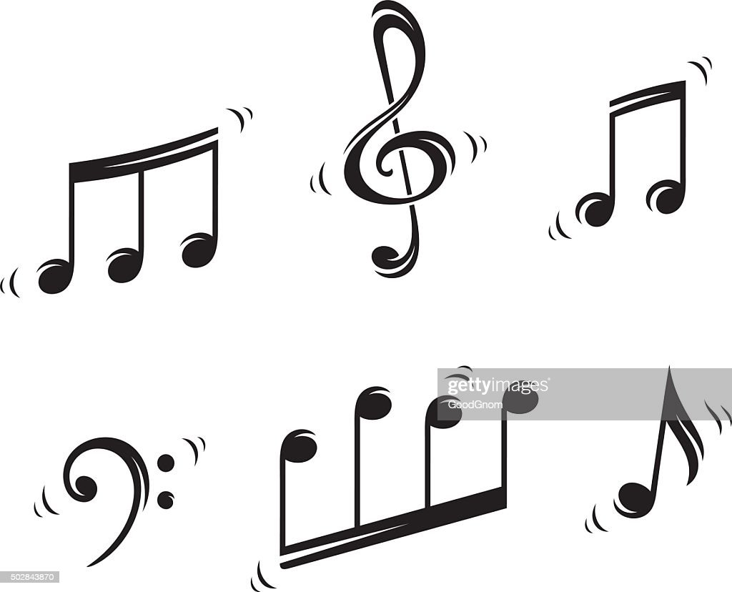 Musical notes : stock illustration