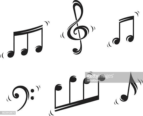 musical notes - treble clef stock illustrations, clip art, cartoons, & icons