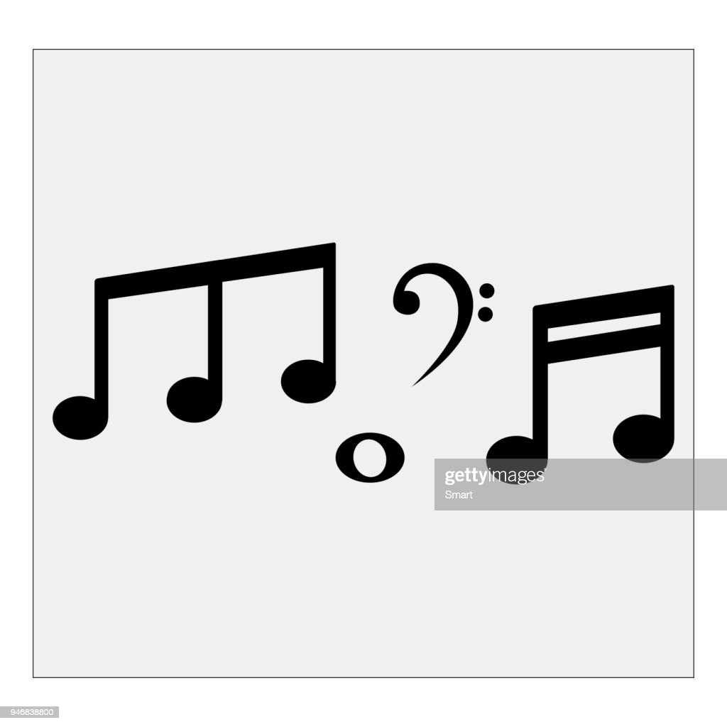 Musical notes. Vector illustration