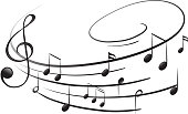 Musical notes with the G-clef