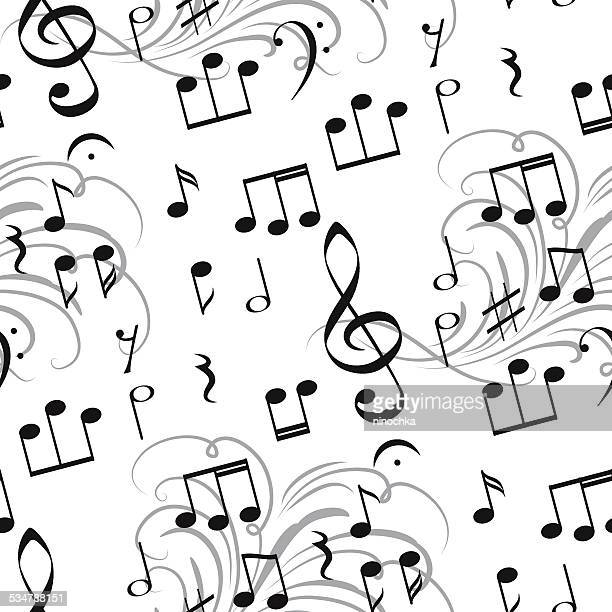 musical pattern - treble clef stock illustrations, clip art, cartoons, & icons